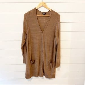 Torrid | Brown Button Front Long Cardigan size 3